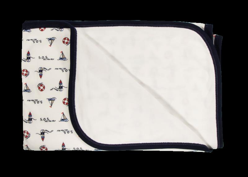 Detská deka, dečka Maják, 80x90 - bavlna, granát