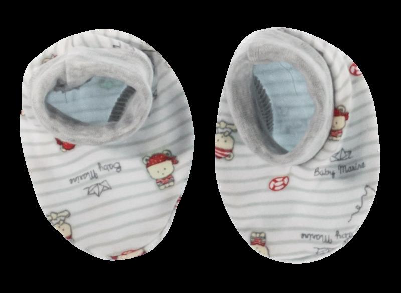 Mamatti Dojčenské topánočky / ponožtičky Pirát, sivé