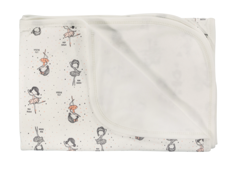 Detská deka, dečka Baletka, 80x90 - bavlna, biela