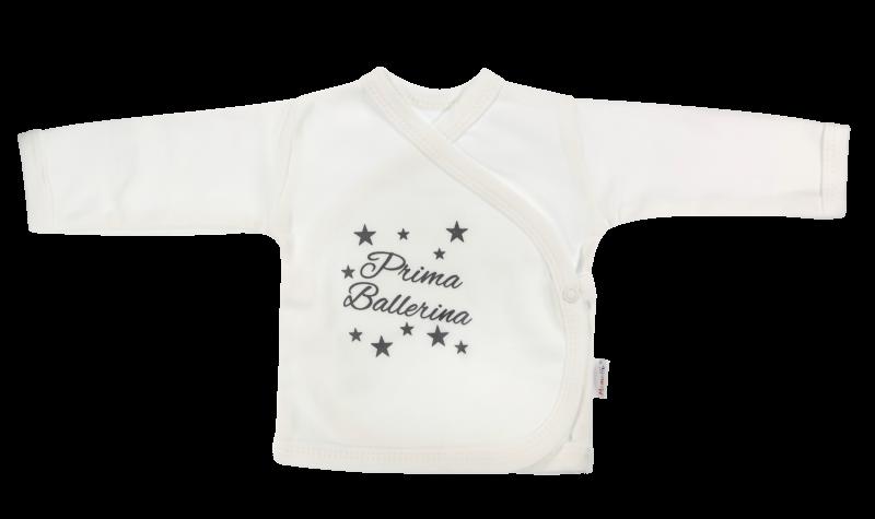 Mamatti Novorodenecká košieľka Baletka - zapínanie bokom, biela, veľ. 62-68 (4-6m)
