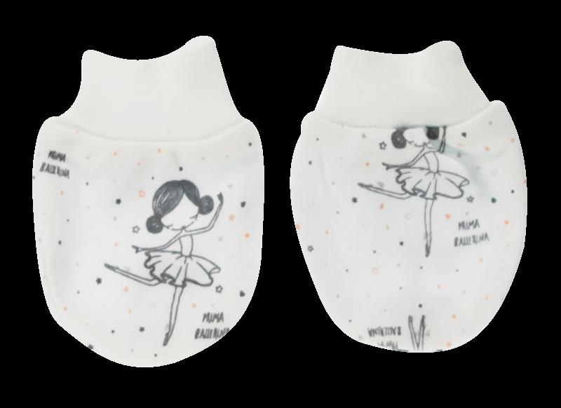 Dojčenské rukavičky Baletka, biele