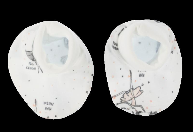 Mamatti Dojčenské topánočky / ponožtičky Baletka, biele