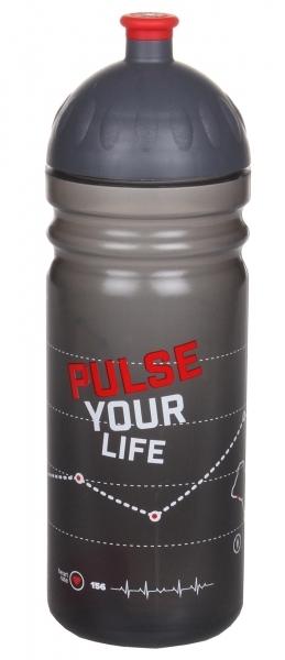 R&B Mědílek s.r.o. Zdravá fľaša - 0,7 l - Pulse - čierna