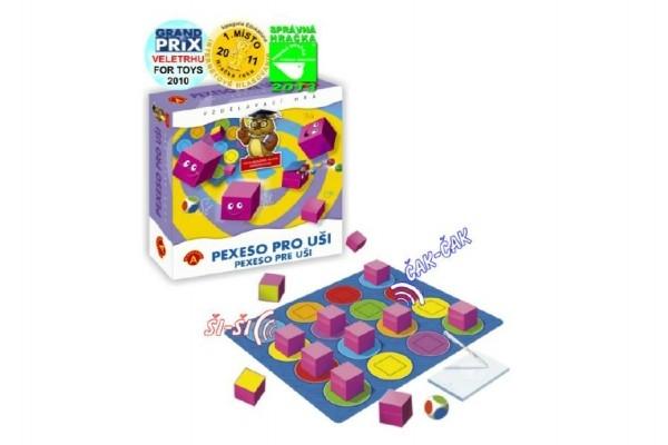Teddies Pexeso pre uši spoločenská hra v krabici 24,5x25,5x6cm