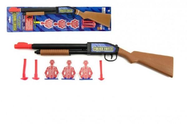 Teddies Pištoľ / Puška na prísavky plast 49cm na karte