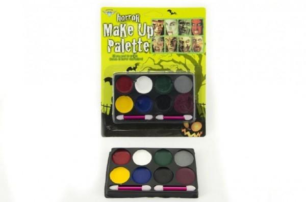Farby tvárové na karte asst 3 farebné kombinácie 17x21x1,5cm karneval