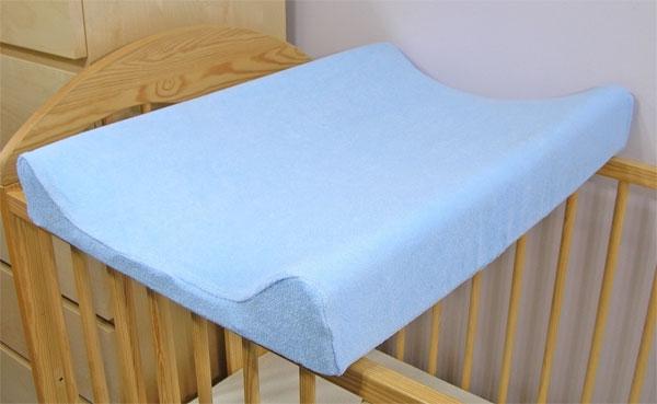 Baby Nellys Froté poťah na prebaľovaciu podložku, 60x80cm - modrá