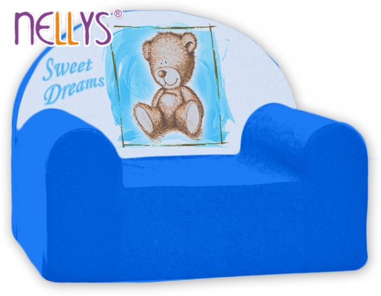 Náhradný poťah na detské kreslo Nellys - Sweet Dreams by Teddy - modrá