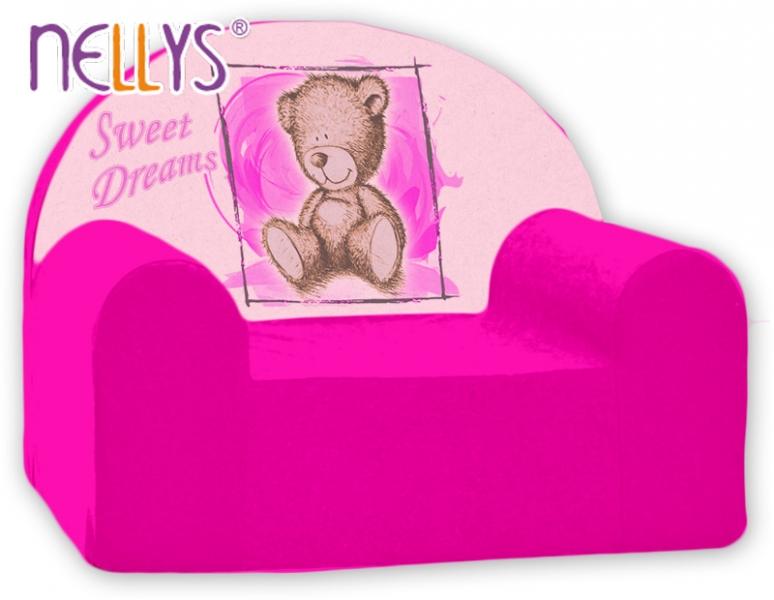 Náhradný poťah na detské kreslo Nellys - Sweet Dreams by Teddy - růžová