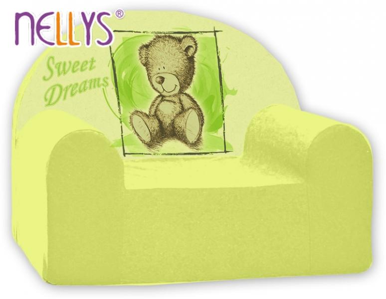 Náhradný poťah na detské kreslo Nellys - Sweet Dreams by Teddy - zelené