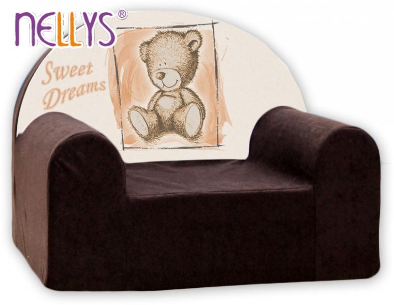 Náhradný poťah na detské kreslo Nellys - Sweet Dreams by Teddy - hnědé