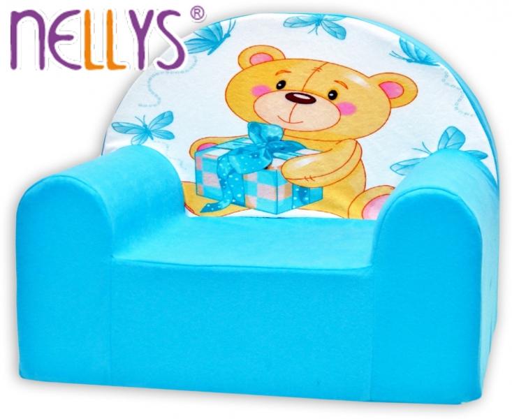 Náhradný poťah na detské kreslo Nellys - Míša Nellys v modrom