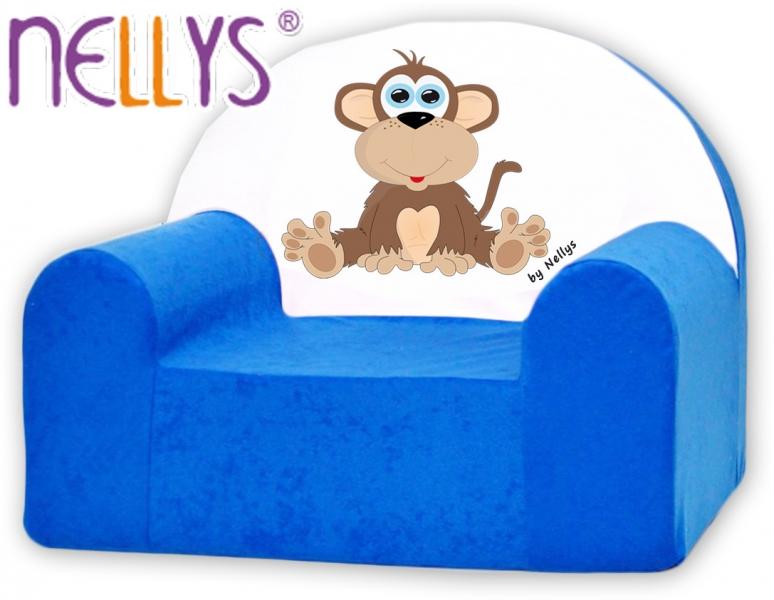 Náhradný poťah na detské kreslo Nellys - Opička Nellys modrá