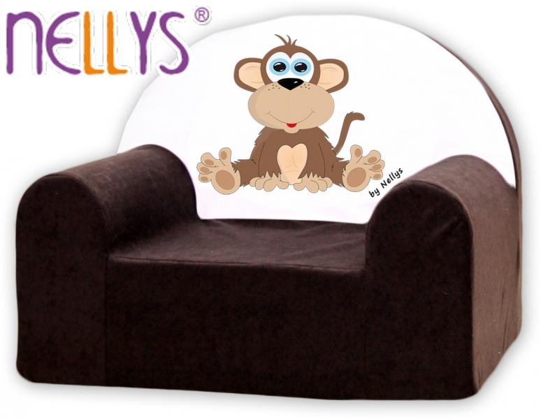 Náhradný poťah na detské kreslo Nellys - Opička Nellys hnedá