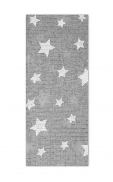 Tetrové plienka Basic 70x80cm - Hvězdičky šedé v bílé