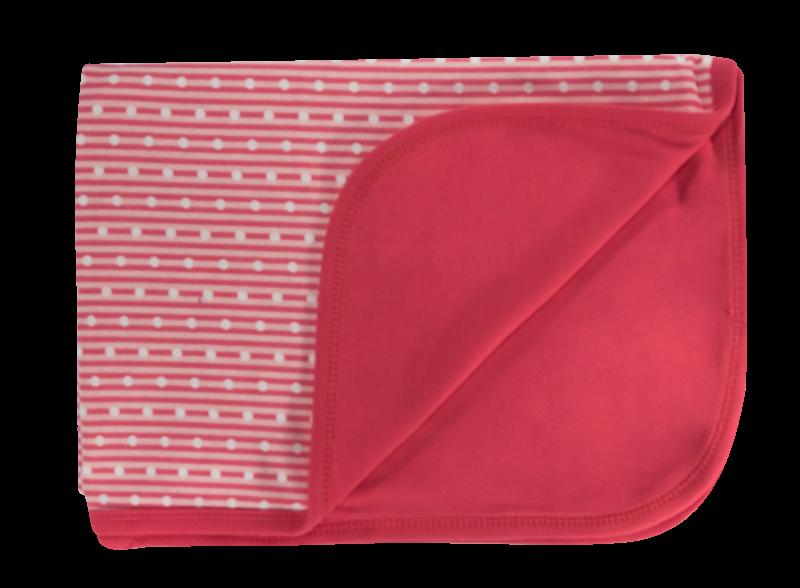 Detská deka, dečka Love Girl, 80x90 - bavlna, červená