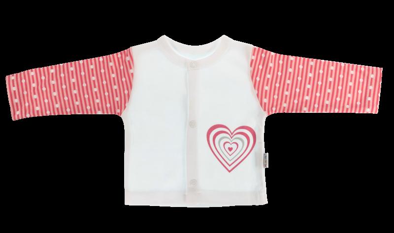 Bavlnená košieľka Love Girl - biela/červená-56 (1-2m)