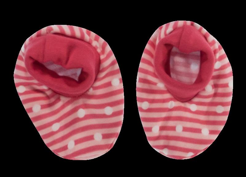 Mamatti Dojčenské topánočky / ponožtičky Love Girl, červené