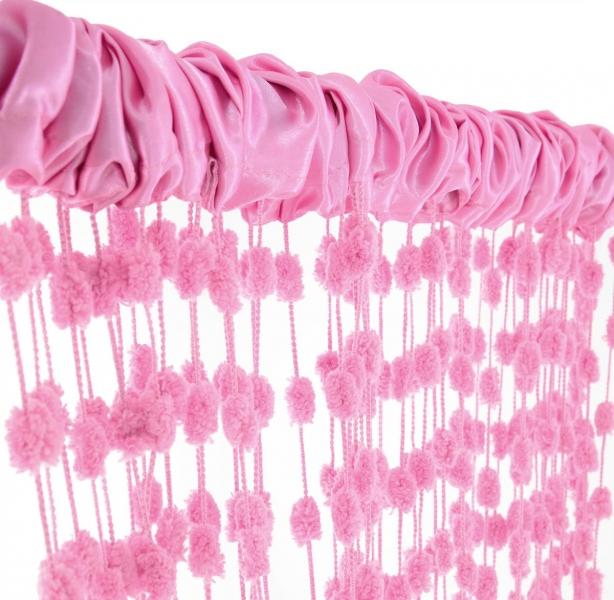 Dětská záclona nielen do izbičky Baby Ball, 250x240 cm, ružová - 1ks-250x240