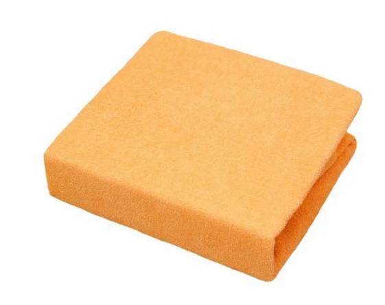 Baby Nellys Froté plachta do postielky 120x60cm - oranžove