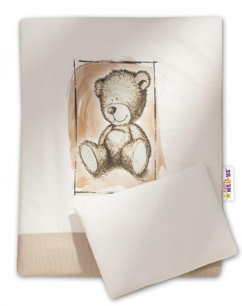 Baby Nellys 2-dielne obliečky do kočíka komplet Sweet Dreams by Teddy - piesok