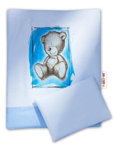 Baby Nellys 2-dielne obliečky do kočíka komplet Sweet Dreams by Teddy - modre
