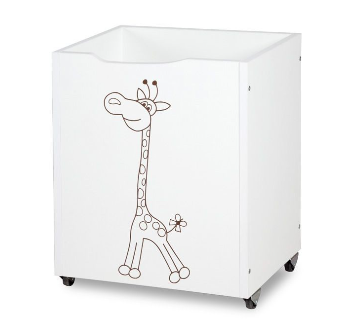 Klups Drevený box na hračky Safari - Žirafa biela