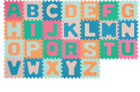 BabyOno Penové puzzle Abeceda, 26 ks