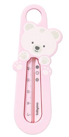 BabyOno Teplomer do vody Medvedík - ružový