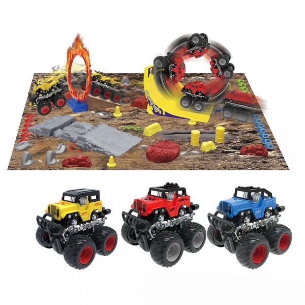Dráha monster truck s autom 3 druhy