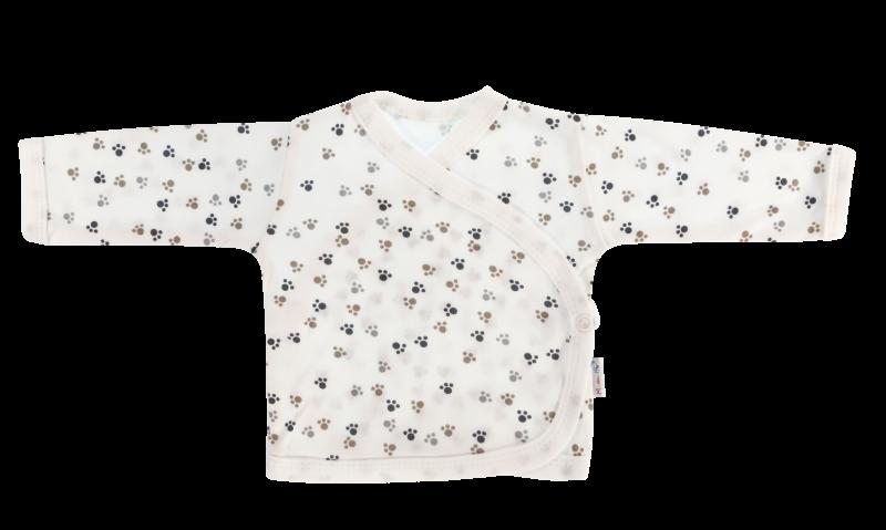 Novorodenecká košieľka Labka - zapínanie bokom, biela-56 (1-2m)