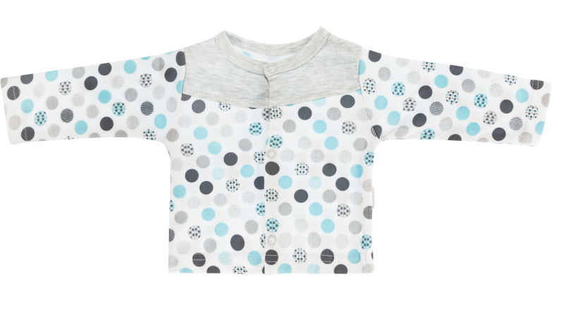 Bavlnená košieľka Bubble Boo - tyrkys/sivá-56 (1-2m)
