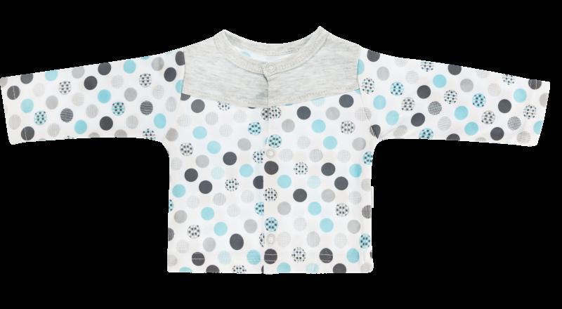 Mamatti Bavlnená košieľka Bubble Boo - tyrkys/sivá, veľ. 62-62 (2-3m)