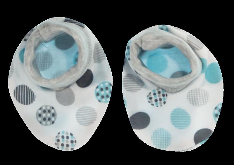 Mamatti Dojčenské topánočky / ponožtičky Bubble Boo, sivá/tyrkys