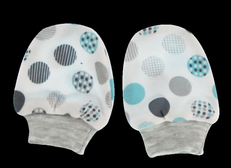Dojčenské rukavičky Bubble Boo, tyrkys/sivé