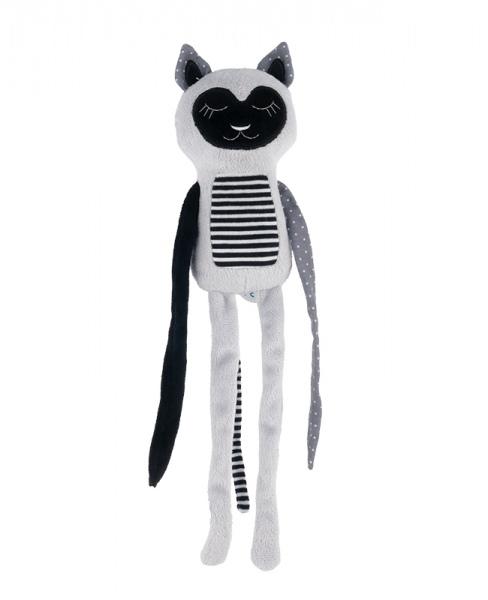 Plyšová hračka s rolničkou Spiace lemur - sivý