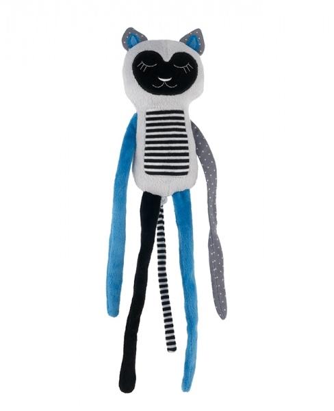 Plyšová hračka s rolničkou Spiace lemur - modrý