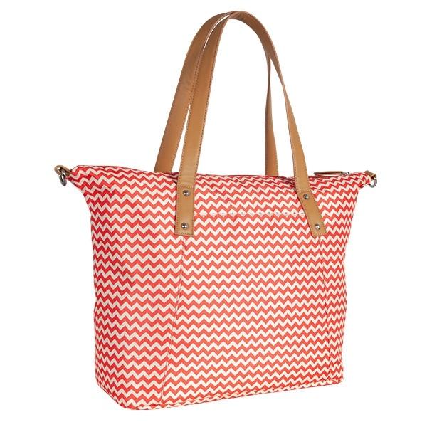 Canpol babies Prebaľovacia taška ku kočíku - červená / Zigzag
