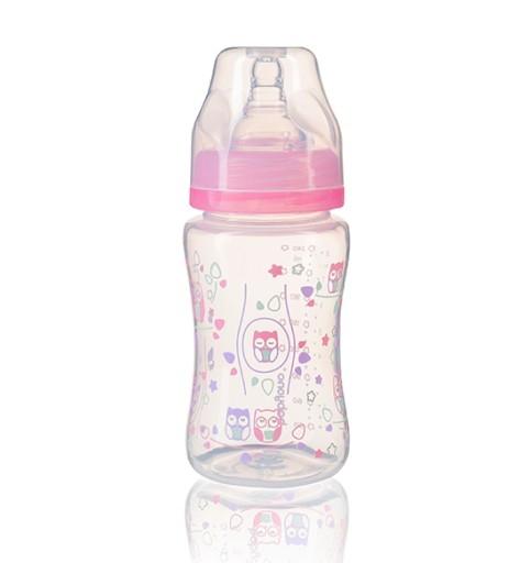 BabyOno Antikoliková fľaštička so širokým hrdlom Baby Ono - ružová