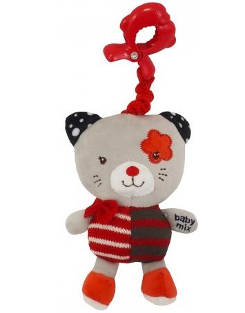 Baby Mix Závesná hračka Mačička - červený