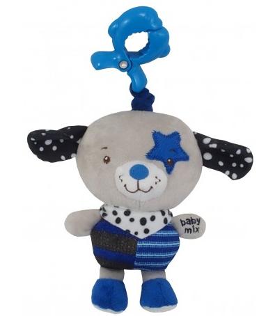 Baby Mix Závesná hračka Psík - modrý