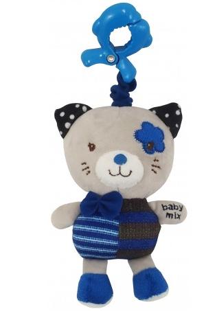 Baby Mix Závesná hračka Mačička - modrá