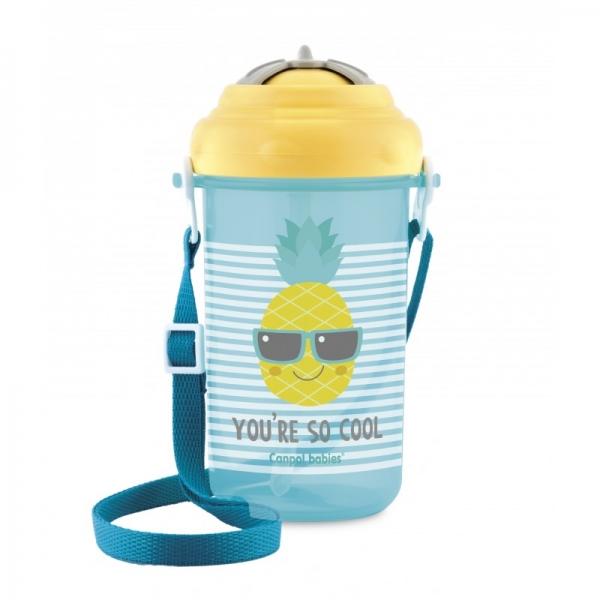 Canpol babies Športová fľaša so slamkou So Cool - Ananas