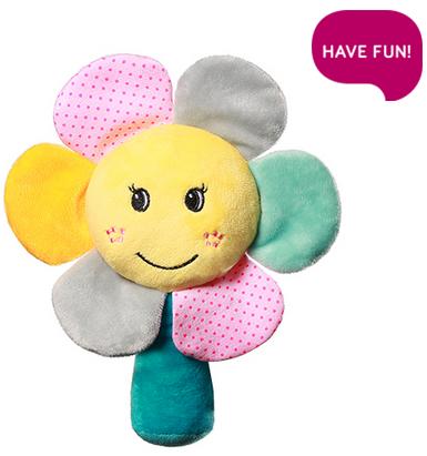 Plyšová hračka s hrkálkou Rainbow Flower