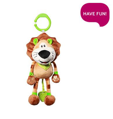 BabyOno Závesná plyšová hračka s melódiou - Alex the Lion