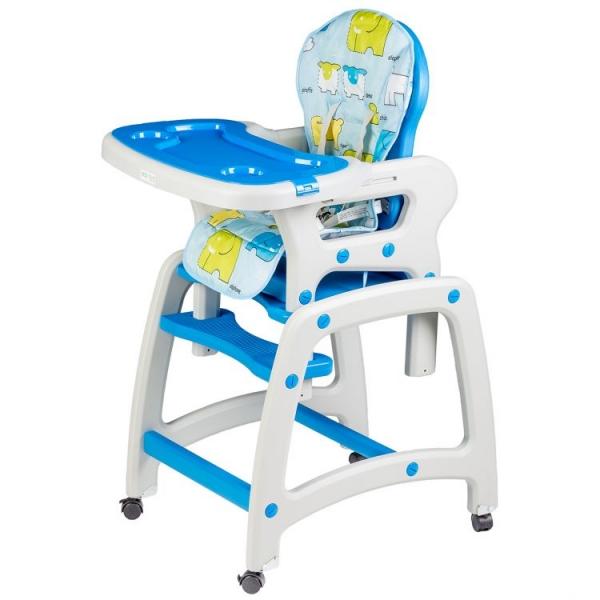 Eco toys Jedálenský stolček  2v1 - modrý