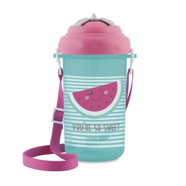 Canpol babies Športová fľaša so slamkou So Cool - Melón