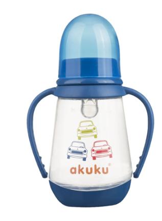 AKUKU Fľaštička 125 ml Auta - modrá