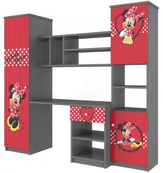 BabyBoo Detská stena Disney - Minnie Srdiečko
