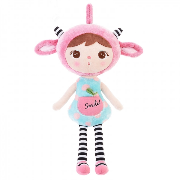 Handrová bábika Metoo Smile, 50cm - sv. modrá